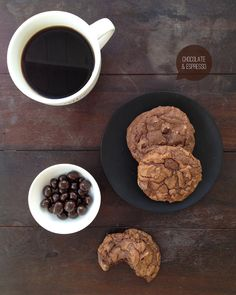 double chocolate espresso cookies - these need to be tried - a cookie and caffeine all at once? yes please!