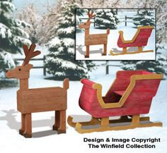 Pallet Wood Sleigh and Deer Plan Set from the Winfield Collection.