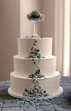 Confetti Wedding By Catha on CakeCentral.com