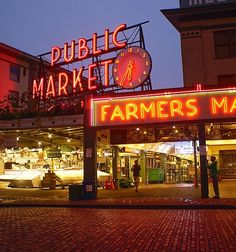 Rise and shine, it's shopping time! At sunrise, Seattle's famous Pike Place Market slowly comes to life with stall after stall of local treats and treasures.