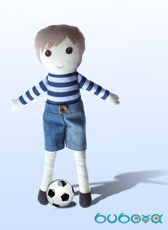 Fiúbaba - öltöztethető textilbaba, Baba-mama-gyerek, Játék, Játékfigura, Plüssállat, rongyjáték, Meska