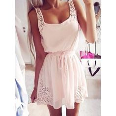 Simple Square Neck Sleeveless Waist Drawstring Solid Color Women's Dress