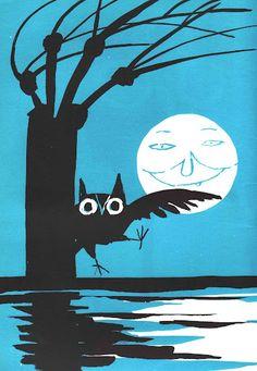 tomi ungerer illustration - Prowl Owl