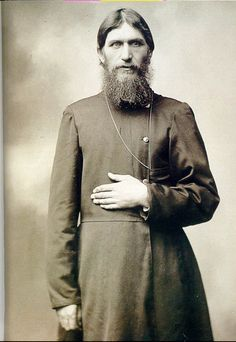 Grigorii Yefimovich Rasputin, brought into the Imperial Family's circle by Empress Alexandra to help aid in the suffering of her son Tsarevich Alexei. Rasputin was able to assuage the boy's pain but not cure the disease he suffered from (Hemophilia). He was well known for being drunk in public and his scores of affairs with high society woman. For the protection of the Royal image he was murdered by several aristocrats including Prince Felix Yussupov and Grand Duke Dmitrii Pavlovich