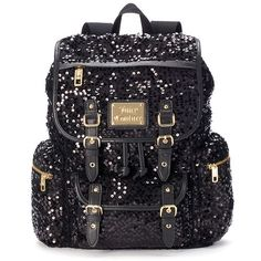 Juicy Couture Velour Pailette Backpack
