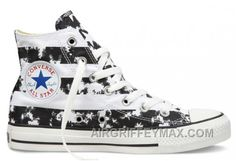 Discount CONVERSE American Flag Black And White Chuck Taylor All Star  Canvas Shoes 58852b856