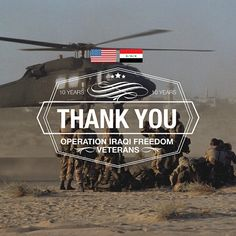 Today is the 10th anniversary of Operation Iraqi Freedom. We want to honor and say thank you to the veterans who served.