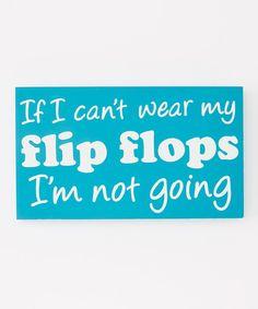 Blue 'Flip Flops' Box Sign