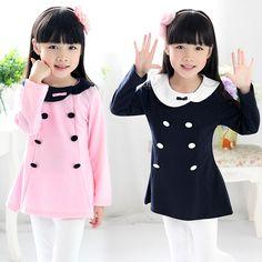 2013 autumn double breasted girls clothing baby child long-sleeve dress qz-0906 $7.37