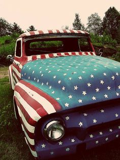 stars and stripes car