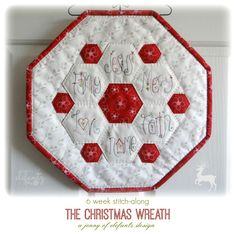 Jenny of ELEFANTZ: The Christmas Wreath Stitch-Along