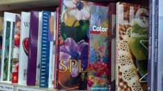 An artist's library lines our front window. Within their pages you will become lost in a world of creativity! Art Supplies, Paint Colors, Workshop, Creativity, Lost, Window, Watercolor, Portrait, Paper
