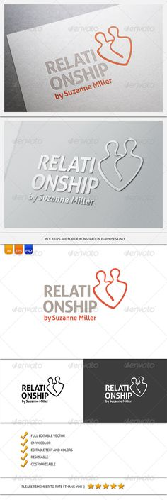 Relationship Counseling Logo Template — Photoshop PSD #psychotherapist #healthcare • Available here → https://graphicriver.net/item/relationship-counseling-logo-template/5900934?ref=pxcr
