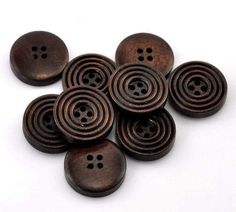 10 Dark Brown 3/4 Buttons for Sweaters Knitting