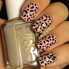 essie animal print nails