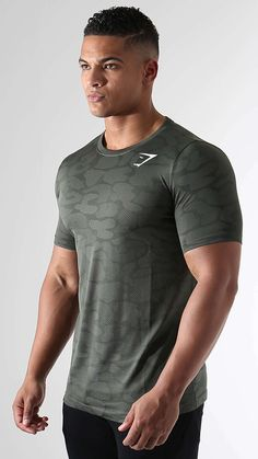 With camouflage design woven into its structure, the Seamless Stealth T-shirt in alpine green is performance wear like you haven't seen before.