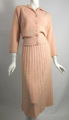 Vintage Kimberly Knits | Dorothea's Closet Vintage dress, 40s dress, knit dress set, Kimberly ...