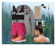 """""""Untitled #101"""" by i-love-modas on Polyvore featuring NIKE, Topshop, Kreafunk, Agent 18 and Kitsch"""