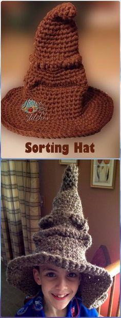 Crochet Harry Potter Sorting Hat Free Pattern - Crochet Halloween Hat Free Patterns