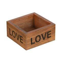Rustic Natural Wooden Succulent Plant Flower Bed Pot Box  Garden Planter PTSP