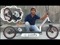 how to make Electric Scooter at home Electric Bike Review, Electric Bike Kits, Electric Scooter, Bike India, Starter Motor, Bike Reviews, Old Bikes, Diy Projects, Science