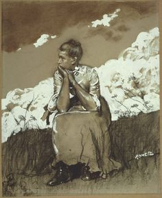 Winslow Homer Girl Seated 1880 Charcoal and opaque white watercolor on light brown paper Figure Painting, Figure Drawing, Winslow Homer Paintings, Museum Of Fine Arts, Drawing People, Watercolor Paintings, Watercolours, Watercolor Girl, Watercolor Landscape