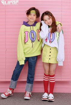 We have not seen Lipop this colorful before. But it works great with their streetwear look. Lipop makes great streetwear looks for girls and some for boys. See their Spring 2018 collection at: www. Cute Asian Babies, Korean Babies, Asian Kids, Cute Babies, Twin Outfits, Couple Outfits, Preteen Girls Fashion, Kids Fashion, Cheap Fashion