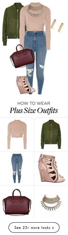 """curvy/plus fall pretty"" by xtrak on Polyvore featuring Topshop, River Island, Jonathan Simkhai, Sergio Rossi, Givenchy and Eddie Borgo"