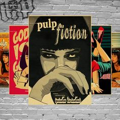 Wouldn't you love to decorate your wall with the most Iconic characters of Quentin Tarantino? Those Posters are perfect for who loves Quentin Tarantino and his characters! Get yours Now! Get yours while it still lasts in stock! CHOOSE YOUR COLOR IN THE DROPDOWN The Posters include Mia Wallace, Vince Vega, Jules Winnfield, Butch Coolidge. - Style: American Style - Pattern: Plane Wall Sticker - Specification: Single-piece Package - Material: Paper - Theme: Pattern - Scenarios: Wall Art Decor -