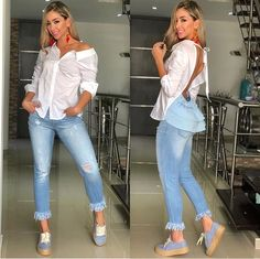 Winter Outfits, Summer Outfits, Casual Outfits, Fashion Outfits, Womens Fashion, Look Plus, Mens Style Guide, Blouse Styles, Summer Looks