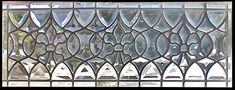 Custom leaded glass all beveled transom window