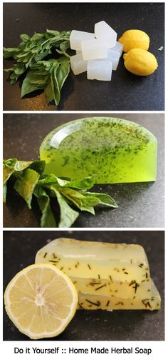 It& easy to make homemade soap with a just few simple ingredients. Add herbs and citrus for a homemade soap that smells amazing! Herb Recipes, Homemade Soap Recipes, Top Recipes, Diy Beauté, Soap Tutorial, Glycerin Soap, Lye Soap, Bath Soap, Homemade Beauty Products