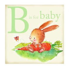 B is for Baby Bunny Print...would be great for a nursery!