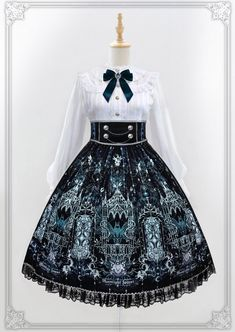 Moonlight Forest -Griffin's Whisper- Lolita High Waist Skirt