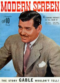 November 1942 Modern Screen magazine with Clark Gable on the cover