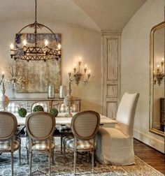 French Cream. Off white French Country dining