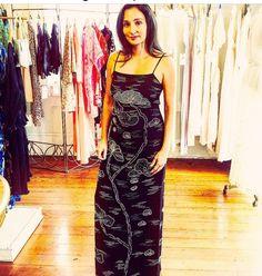 Lili Vintage New Orleans vintage beaded gown dress art