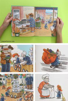 Libros-infantiles-Ella-y-la-tarta-dibujos-elefante