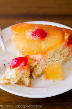 The one and only Pineapple Upside-Down Cake recipe you'll need. Homemade, super-moist, loaded with flavor!