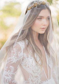 ROSEBURY wedding crown with crystals