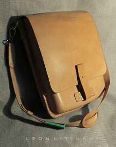 Leather Bag. By Leon Litinsky.