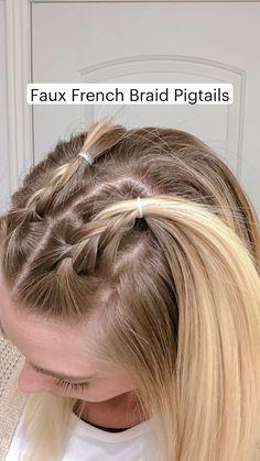 Pigtail Hairstyles, Pigtail Braids, Cute Hairstyles For Short Hair, Girl Hairstyles, Pigtails Hair, Beach Hairstyles, Hairstyles Videos, Easy Summer Hairstyles, Wedding Hairstyles