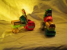Candy Tractors - I'm planning on using this basic design to make candy tractors for my son's birthday party.