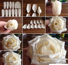 Różyczki wykonane z bibuły