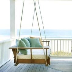 Swing chair by the beach