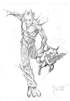 Groot and Rocket!