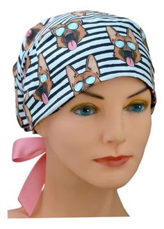Perfect Fit Surgical Scrub Hats for Women Hats For Short Hair, Short Hair Styles, Scrub Hat Patterns, Natural Latex, Scrub Hats, German Shepherds, Sewing Techniques, Tie Backs, Hats For Women