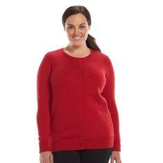 Croft & Barrow Essential Cardigan - Women's Plus Size