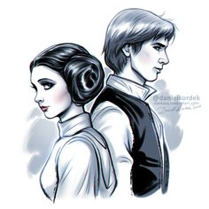 """Leia + Han. I'm still influenced by """"Rogue One"""" and """"A New Hope"""" at the same time…"""