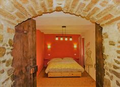 Romantic bedroom in holiday apartment Il Rosmarino